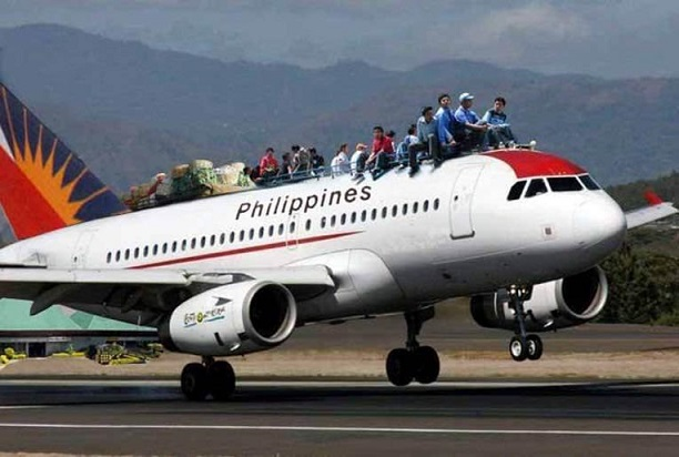 Philippine airlines aka PAL, which is the major Filipino airline carrier