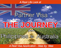 The journey from Philippines to Australia with a partner visa