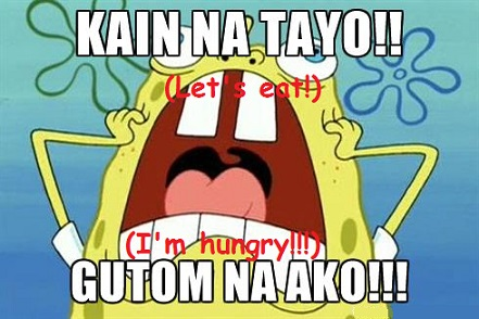 kain tayo, or let's eat, which is part of filipino generosity and hospitality about food